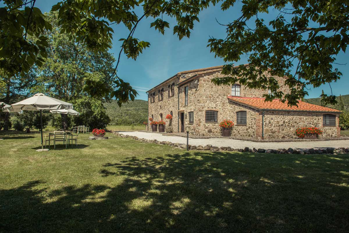 Podere Lame external view Tenuta Il Cicalino Farmhouse in Tuscany